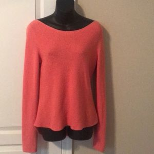 Express M Coral High-low scoop neck sweater